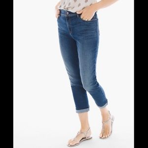 Chico's So Slimming Girlfriend Crop Capri Jeans